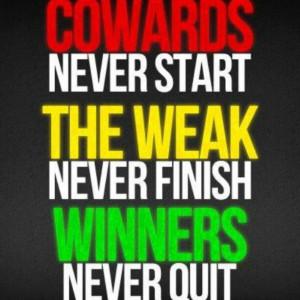 Cowards, weak, winners