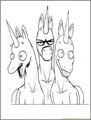 free printable coloring page Funny Unicorns (Cartoons > Unicorn)