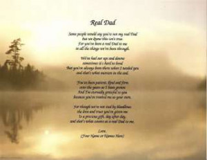 Dad Poem Personalized Gift