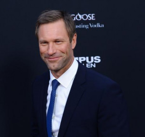 Aaron Eckhart attends the
