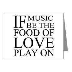Food Of Love, Play On quotation t-shirts and gifts. This funny quote ...