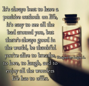 positive outlook on life quotes