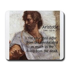 Aristotle Education Quote Mousepad