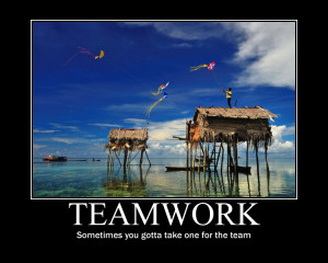 Teamwork, Sometimes You Gotta Take One For The Team ""