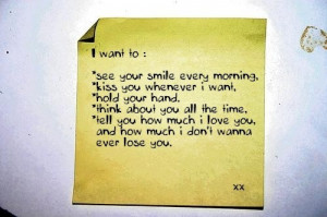 Want To Kiss You Whenever I Want