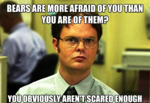 dwight schrute facts scared bears Funny Pictures: 10 Funny Dwight isms ...