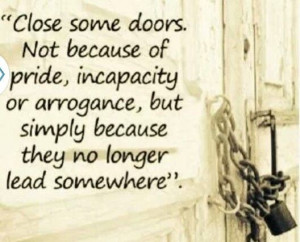 Is time to open new doors