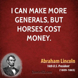 can make more generals, but horses cost money.