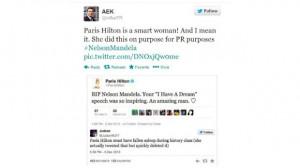 Paris Hilton angered by fake tweet