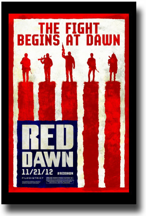 Red Dawn Poster – 2012 Movie Promo Flyer 11 x 17 Lines