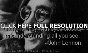 john lennon, quotes, sayings, closed eyes, life, real
