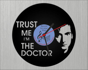 Dr Who Vinyl Record Clock, Dr Who Quote Quotes, Cool gift ideas for ...