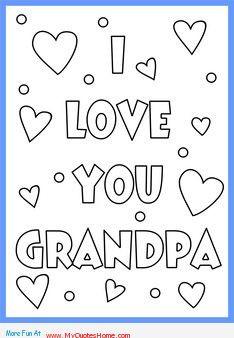 Happy Fathers Day Grandpa Coloring Pages: Pics For > I Love Grandpa ...