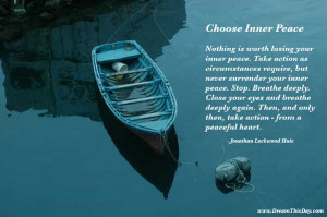 Serenity - make a conscious choice to live a stress-free life