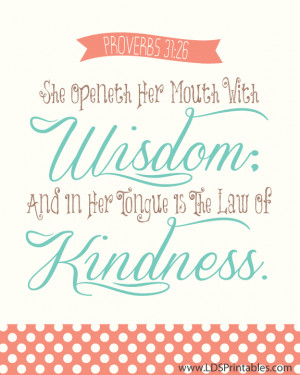reminder and Free Printable from LDS Printables . Frame this quote ...