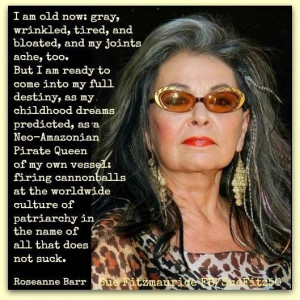 this meme today. I'd forggoten all about this lady. Roseanne Barr ...