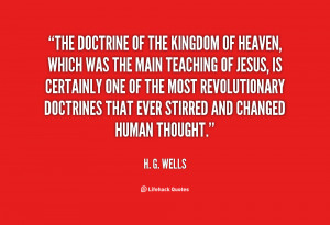 ... doctrines that ever stirred and changed human thought h g wells
