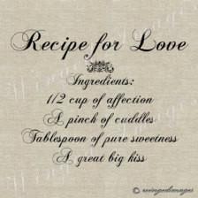 Recipe for Love Instant Download Di gital Image No.46 Iron-On Transfer ...