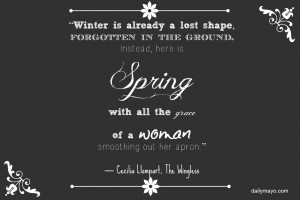 Quote Me Thursday Link-Up 25: March 27- April 2: Spring Quotes