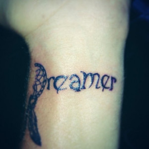 Dreamcatcher unique dreamer quote wrist tattoo uncategorized