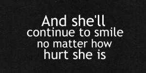 quote Black and White sad quotes broken relate hiding Broken Smile ...