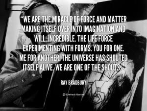 Ray Bradbury Quote Jump And
