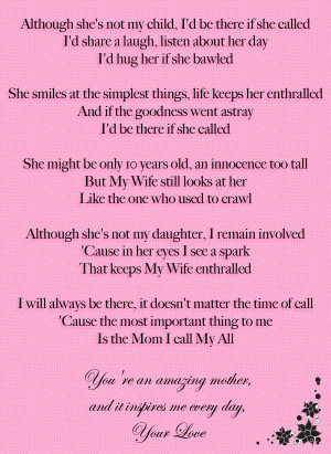 Day. I love you. Step-dad, step-daughter poem.: Step Daughters Quotes ...