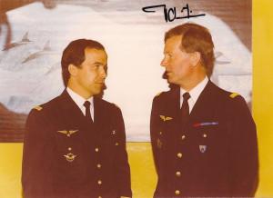 ... français à la presse en 1980 - Photo signée Jean-Loup Chrétien