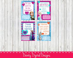 ... Valentines- School Valentines-Valentine's Labels- Anna & Elsa- Olaf