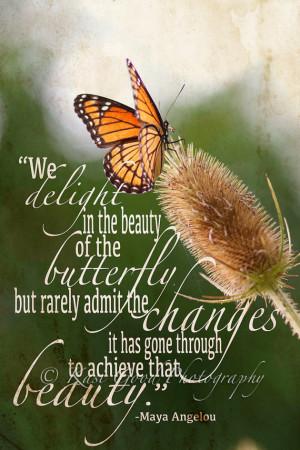 Inspirational Butterfly ART QUOTE - Wall Art Print - 8x12 Photograph