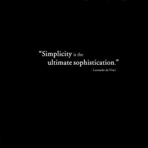 black quotes leonardo da vinci simple 1366x768 wallpaper