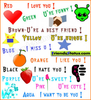 Color for friends and lover