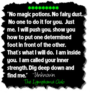 Inner Strength Quote For Cancer Fighters