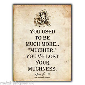... -WALL-PLAQUE-Alice-in-Wonder-Land-Mad-Hatter-Lewis-Carroll-Quote-art