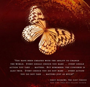 Andy Andrews--- the butterfly effect