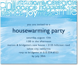 ... vibrant and fun house warming party invitation full of inviting words