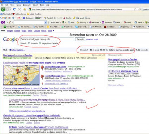 "... search for ""Ontario mortgage rate quote"" on Google.ca: Example 11"
