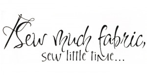 ... Quote Vinyl Sew Much Fabric Cute Sewing Wall Quote Art Decal(China