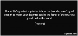... daughter can be the father of the smartest grandchild in the world