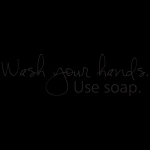 Wash Your Hands Handwritten Wall Quotes™ Decal