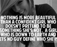 Confidence...makes her strong!