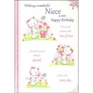 Wishing A Wonderful Niece A Very Happy Birthday' Girls Birthday Card ...