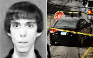 ... Adam Lanza and the car he drove to the school in Photo: REX FEATURES