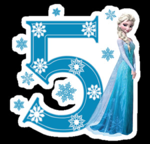happy 5th birthday frozen
