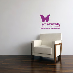 am a Butterfly Sticker
