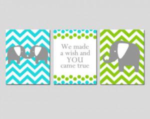 Cute Elephant Quotes Elephant nursery art trio