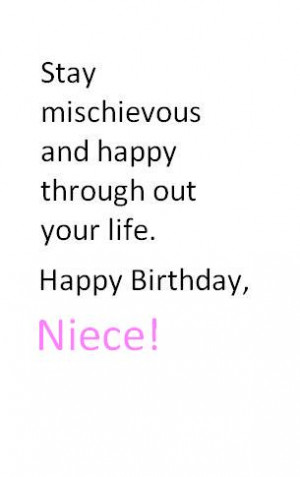 Happy Birthday Quotes For A Niece Quote Photos Birthday Wishes To My