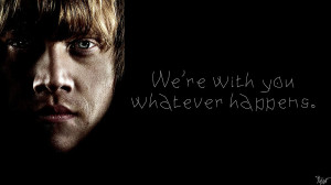 Harry Potter Wallpaper : Ron Quote! by TheLadyAvatar