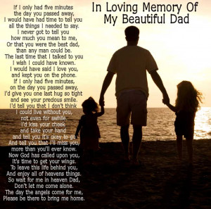CLICK FOR >> In Loving Memory Verses For Father Dad Memorial Poems For ...