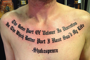 28 Intriguing Chest Tattoo Quotes